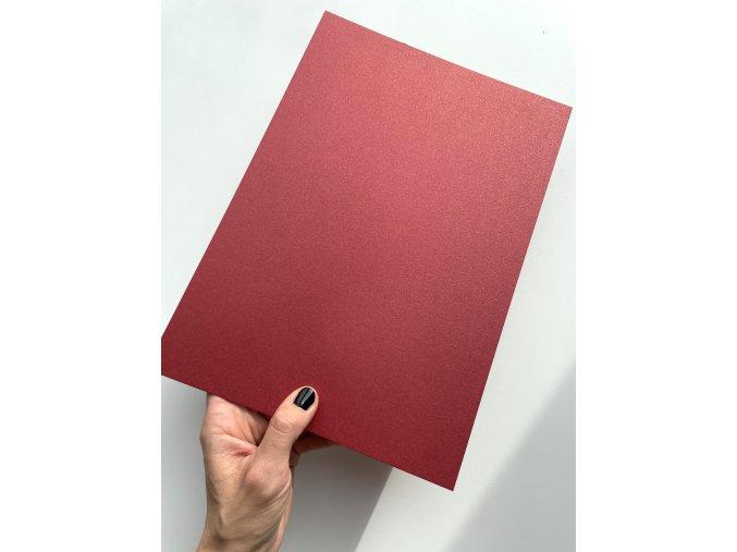 Papír A4 170g - Metalická Bordó