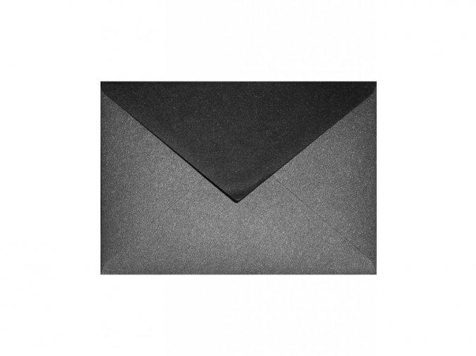 Obálka C5 - Metalická Černá