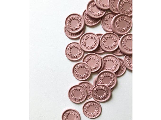 Pečetní vosk 13,5 cm - Pastelová růž