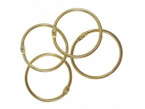 Spojovaci krouzky zlata 38 mm 4 ks