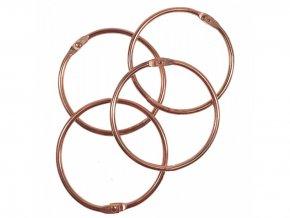 Spojovaci krouzky rose gold 50 mm 4 ks