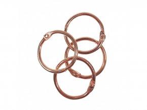 Spojovaci krouzky rose gold 25 mm 4 ks