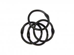 Spojovaci krouzky cerna 25 mm 4 ks