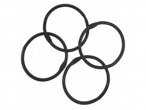Spojovaci krouzky cerna 38 mm 4 ks