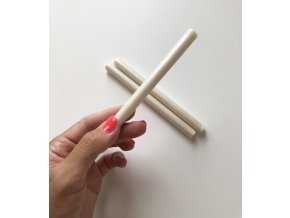 Pečetní vosk 13,5 cm - Metalická bílá