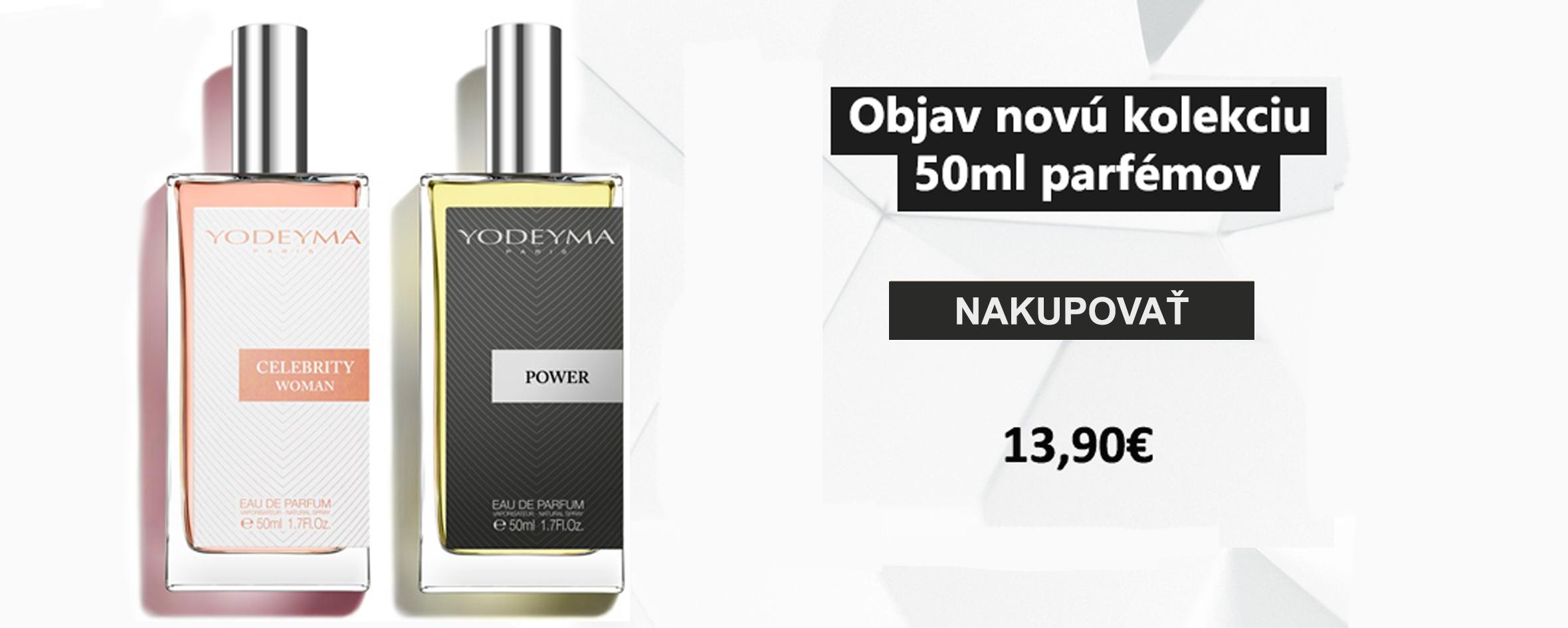 Nová kolekcia 50ml parfémov