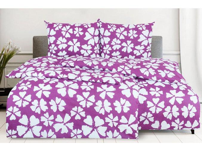 Bavlněné povlečení 4dílné WALIKA fialové