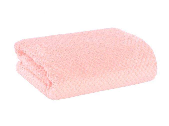 Žakárová deka RONA starorůžová