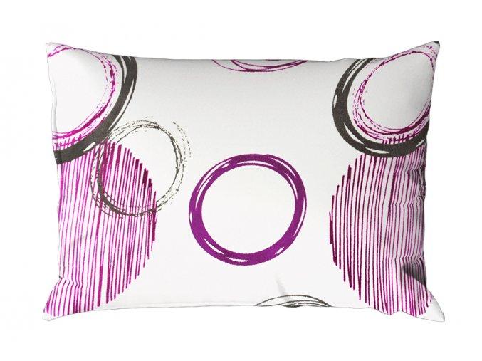 Povlak na polštář mikroplyš 70x90 cm BARCELONA fialový