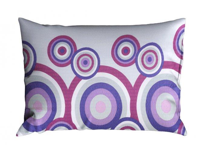 Krepový povlak na polštář RENFORCÉ 70x90 cm FIORA fialový