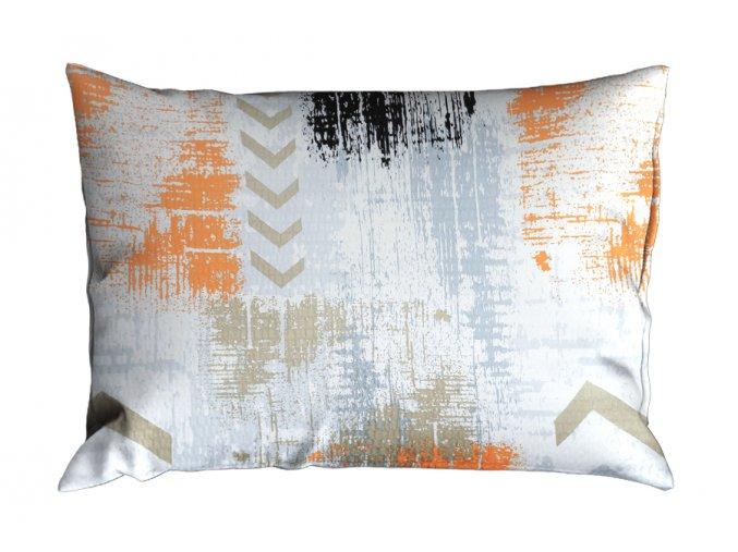 Krepový povlak na polštář RENFORCÉ 70x90 cm SAGITA oranžový