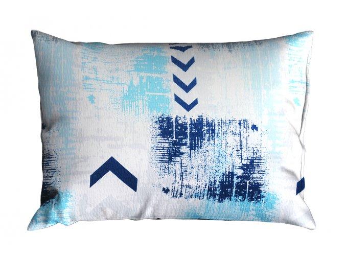Krepový povlak na polštář RENFORCÉ 70x90 cm SAGITA modrý