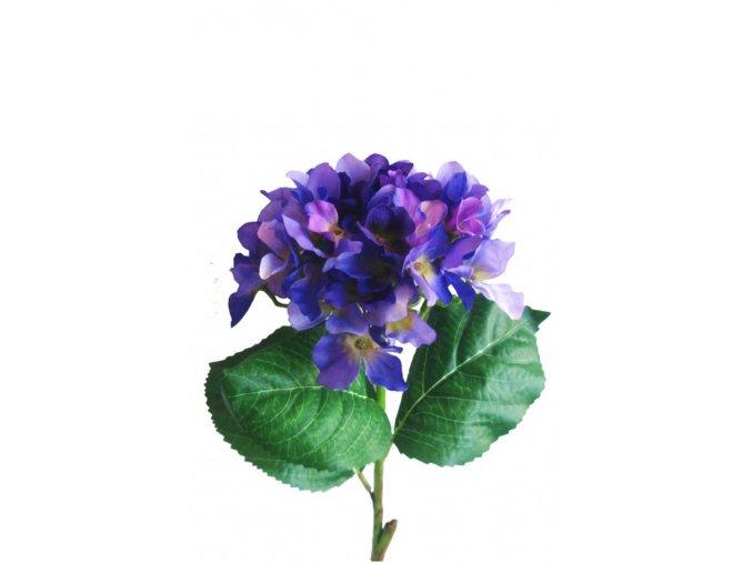 Umělé kvítí HORTENZIE modrá