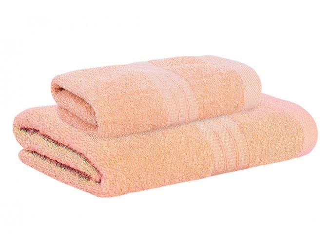 Set ručníku a osušky AMARA lososový