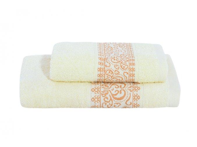 Set ručníku a osušky KEFALA smetanový