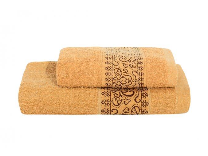 Set ručníku a osušky KEFALA hnědý