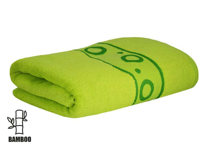 Bambusový ručník KORAL limetkový