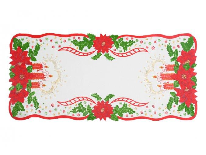 Vánoční ubrus SVÍCE 38x85 cm