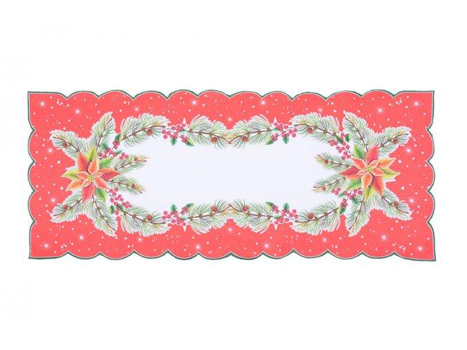Vánoční ubrus HVĚZDA 2 38x85 cm