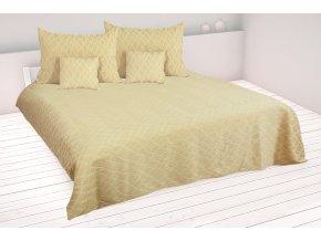 Dvoulůžkový přehoz na postel 220x250 cm LISTRA béžový