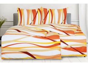 Povlečení z mikrovlákna s bavlněným efektem 4dílné RIVERA oranžové
