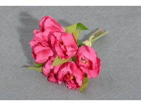 Svazek umělých květin TULIPÁNY růžový