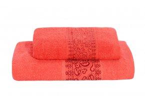 Set ručníku a osušky KEFALA červený