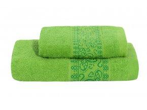 Set ručníku a osušky KEFALA zelený