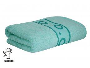 Bambusový ručník KORAL světle tyrkysový