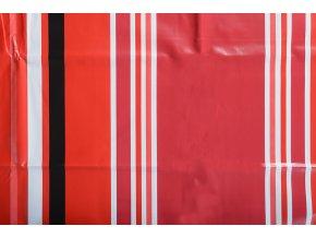 PVC ubrus STREPA červený 120x140 cm