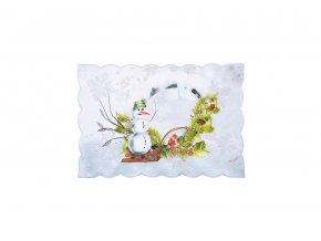 Vánoční ubrus SNĚHULÁK 28x43 cm