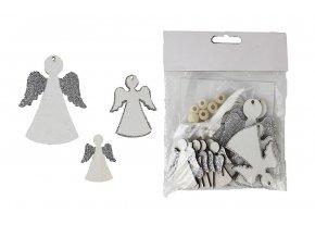 Závěsná dekorace ANDÍLCI stříbrná