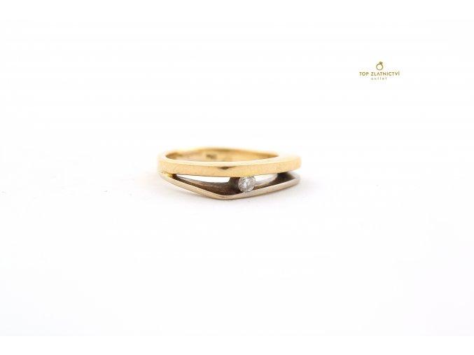 Zlatý prsten s diamantem 5.16g
