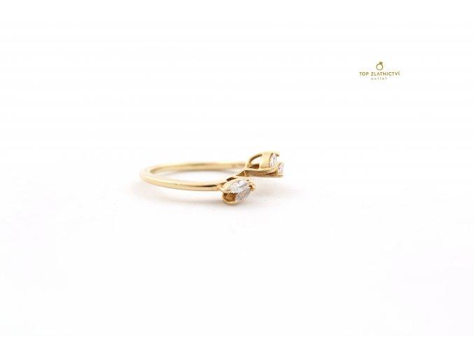 Zlatý prsten s diamanty 2.53g