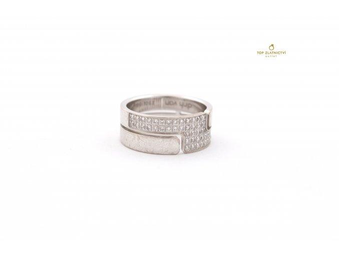 Zlatý prsten s diamanty 7.40g