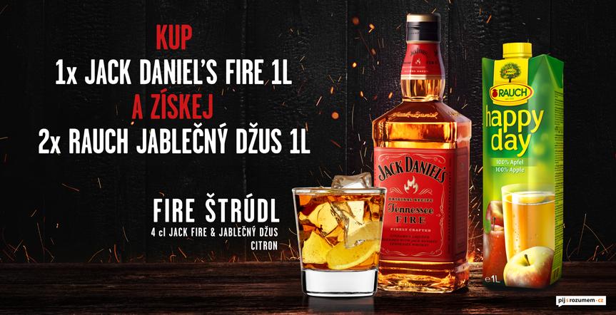 Jack Daniels Fire + džus