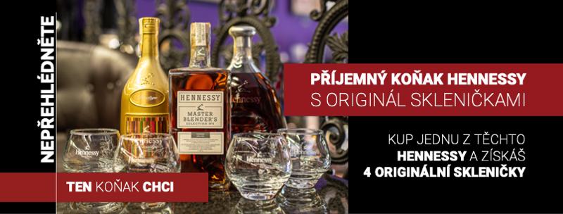 Hennessy + sklo