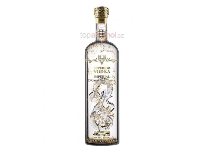 royal dragon imperial with gold leaves russian winter rye vodka 70cl bottle temp