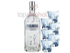 Finlandia 1,75l + 6 SKLENIČEK FINLANDIA