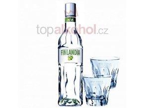 Finlandia Lime 0,5 l + 2 SKLENIČKY FINLANDIA
