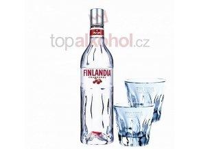 Finlandia Cranberry 0,5l + 2 SKLENIČKA FINLANDIA