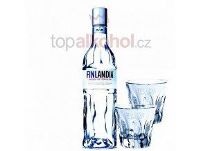 Finlandia 0,5 l sklo + 2 x SKLENIČKY FINLANDIA