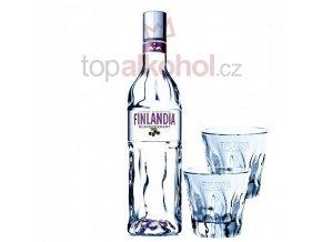 Finlandia Blackcurrant 0,7l + 2 SKLENIČKY FINLANDIA