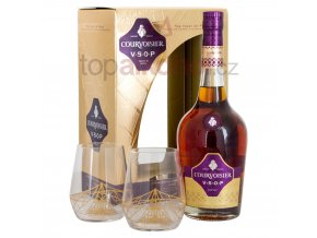 courvoisier vsop cognac gift set with 2 stem glasses 70cl 3