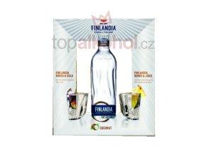 Finlandia Coconut dárkové balení +2 sklenice