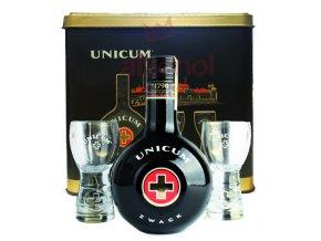 Zwack Unicum 0,5l + 2x sklo