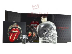 Rolling Stones Box vodka crystal head