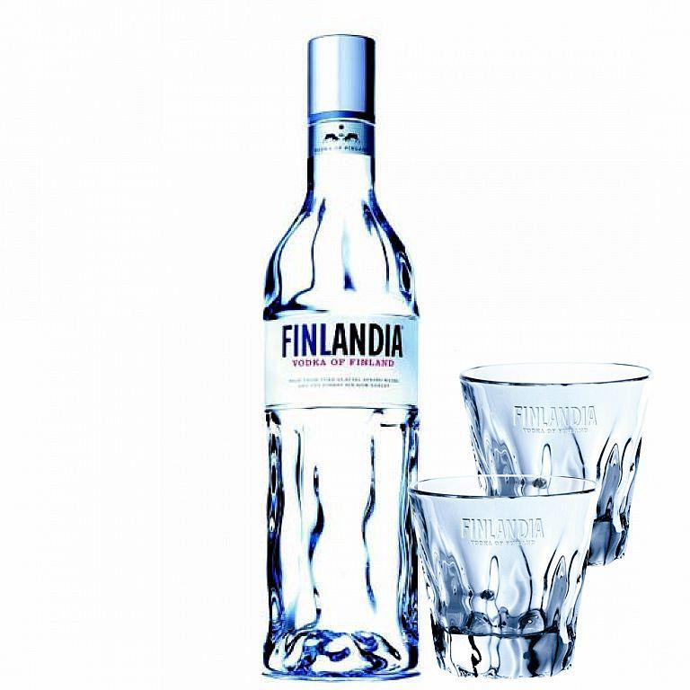 Finlandia 1l 40% + 2 SKLENIČKY FINLANDIA