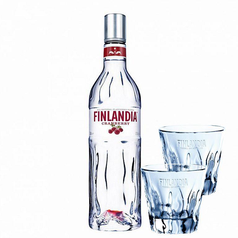 Finlandia Cranberry 0,7l + 2 SKLENIČKY FINLANDIA