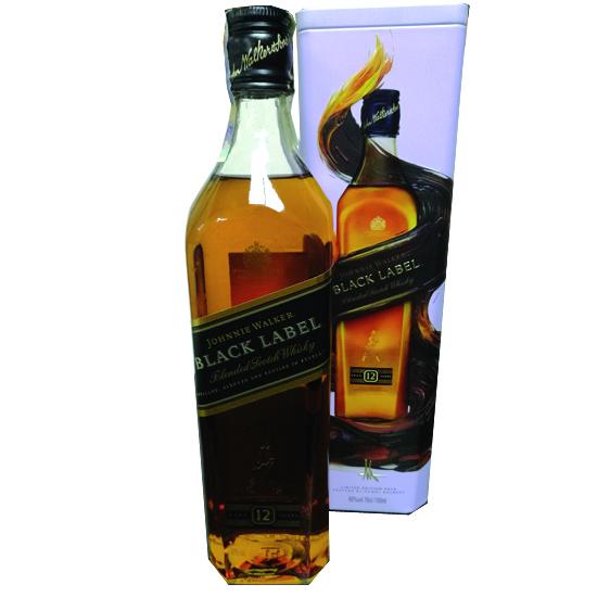 Johnnie Walker Black Label 0,7 l Plechová tuba